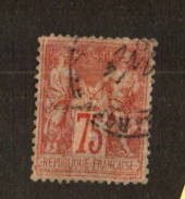 FRANCE 1876 Definitive Type 2 (N sous U) 75c Rose. Yvert (1996 edn) 81. - 74520 - Used