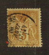 FRANCE 1877 Definitive Type 2 (N sous U) 3c Bistre sur jaune. Yvert (1996 edn) 86. - 74522 - Used