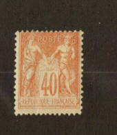 FRANCE 1877 Definitive 40c Pale Red on yellow. - 74536 - LHM