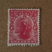 NEW ZEALAND 1925 1d Dominion on Art Paper with imitation watermark. Blurred Frame Flaw. - 74637 - MNG