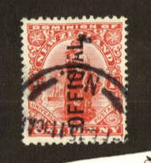 NEW ZEALAND 1909 1d Dominion with major flaw on the A in the overprint. - 74675 - FU