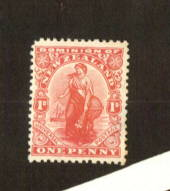 NEW ZEALAND 1925 1d Dominion on Art paper with Black Watermark. One dull corner. - 74680 - LHM