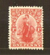 NEW ZEALAND 1926 1d Dominion. Art paper. Colourless Imitation Watermark Lithographed - 74769 - Mint