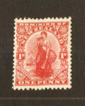 NEW ZEALAND 1926 1d Dominion on Wiggins Teape Medium Hard Paper with Colourless Gum and Upright Watermark - 74786 - UHM