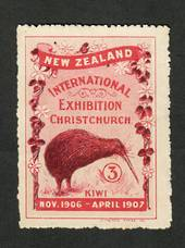 NEW ZEALAND 1905 Christchurch Exhibition Label Kiwi. - 74837 - MNG