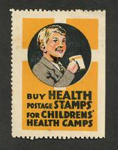 NEW ZEALAND 1933 Buy Health Stamps. Boy with mug. Tone spots. - 74954 - Cinderellas