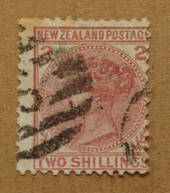 NEW ZEALAND 1874 Victoria 1st First Sideface 2/- Red. - 75001 - FU