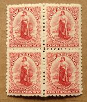 NEW ZEALAND 1901 1d Universal. Block of 4. Perf 11. - 75094 - UHM