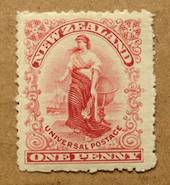 NEW ZEALAND 1d Universal Red. London Plate. Perf 16. - 75104 - Mint