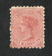 NEW ZEALAND 1882 Victoria 1st Second Sideface 1/- Red-Brown with advert 3rd setting in Red. Use the Best Soap Sunlight. - 75112