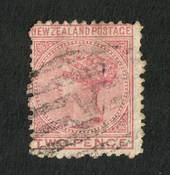 NEW ZEALAND 1874 Victoria 1st First Sideface 2d. Rose. Perf 12½.  Watermark 3. - 75188 - Used