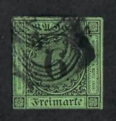 BADEN 1851 Definitive 6k on Blue-Green. Four good margins. - 75449 - Used