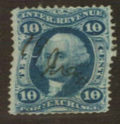 USA 1862 Foreign Exchange 10c Blue. Fine copy. - 76104 - FU
