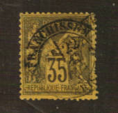 FRANCE 1877 Definitive 35c Deep Brown on yellow. Type 2. Letter 'N' under the 'U'. - 76220 - FU