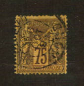 FRANCE 1877 Definitive 75c Brown on pale orange. Type 2. Letter 'N' under the 'U'. - 76221 - VFU