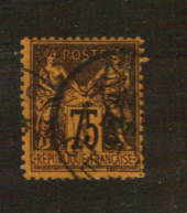 FRANCE 1877 Definitive 75c Brown on deep orange. Type 2. Letter 'N' under the 'U'. - 76222 - Used