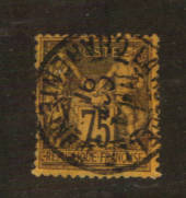 FRANCE 1877 Definitive 75c Dull Brown on deep orange. Type 2. Letter 'N' under the 'U'. - 76223 - Used