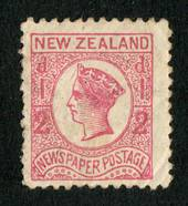 NEW ZEALAND 1873 Newspaper ½d Pale Dull Rose. No Watermark. Perf 10. Perfs down one side a little uncrisp. - 79397 - Mint