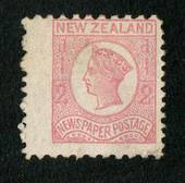 NEW ZEALAND 1873 Newspaper ½d Pale Dull Rose. No Watermark. Perf 10x12½. Good wing margin. - 79403 - Mint