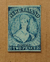 NEW ZEALAND 1855 Full Face Queen 2d Bright Blue. Intra-Production Plate Proof. - 79440 - Mint