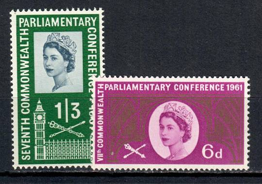 GREAT BRITAIN 1961 Commonwealth Parliamentary Conference. Set of 2. - 9068 - UHM