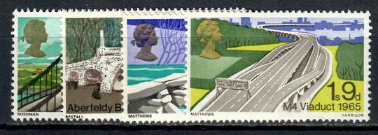 GREAT BRITAIN 1968 Bridges. Set of 4. - 9111 - UHM