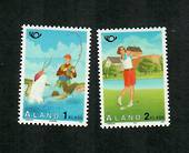 ALAND 1995 Nordic Countries Postal Co-operation. Tourism. Set of 2. GOLF and FISHING. - 91676 - UHM