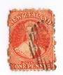 NEW ZEALAND 1862 Full Face Queen 1d Red. - 10007 - Used