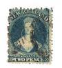 NEW ZEALAND 1862 Full Face Queen 2d Blue. - 10010 - Used