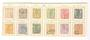 LUXEMBOURG 1882 used set. Various perfs. - 100301 - VFU