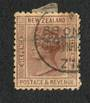 NEW ZEALAND 1882 Victoria 1st Second Sideface 6d Brown. - 10034 - FU