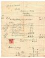 NEW ZEALAND 1911 bill from builder with 1d Dominion to pay the stamp duty. £450.0.0 to build a house. Very tired. - 100421 -