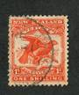 NEW ZEALAND 1898 Pictorial 1/- Redrawn Kaka. - 10073 - Used