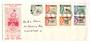 SABAH 1964 Definitives. Set of 7 low values on first day cover. - 131935 - FDC