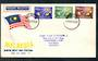 MALAYSIA 1963 Inaugueration of the Federation. Set of 3 on first day cover. - 131940 - FDC