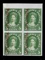 NEW BRUNSWICK 1860 Definitive 5c Deep Green. Plate Proof with overprint Specimen in red. Block of 4. Superb. - 20009 - Proof