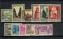 BELGIUM 1933 Orval Abbey Resoration Fund. Set of 11(excluding the miniature sheet stamp). Very lightly hinged. - 20014 - LHM