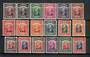 SARAWAK 1945 BMA Definitives. Short set of 18. - 20015 - Mint