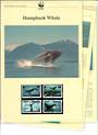 TONGA 1996 World Wildlife Fund Humpback Whale. Set of 4 in mint never hinged and on first day covers with 6 pages of official te