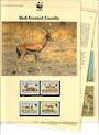 BURKINA FASO 1993 World Wildlife Fund Red Fronted Gazelle. Set of 4 in mint never hinged and on first day covers with 6 pages of