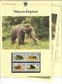 CAMBODIA 1997 World Wildlife Fund Malayan Elephant. Set of 4 in mint never hinged and on first day covers with 6 pages of offici