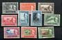 TRENGGANU 1957 Elizabeth 2nd Definitives. Set of 12 less both 10c values (which catalogue at £7.75). - 20033 - UHM
