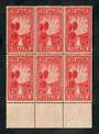 NEW ZEALAND 1933 Health. Block of six. - 20059 - UHM
