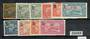 GUADELOUPE 1925 set of 10 surcharges. Extremely lightly hinged mint. - 20085 - LHM