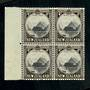 NEW ZEALAND 1935 Pictorial 4d Mitre Peak. Block of 4. - 20104 - UHM