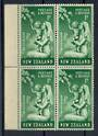NEW ZEALAND 1949 Health 1d Green with flaw known as the