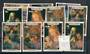AITUTAKI 1987 Hurricane Relief Fund. Set of 11. Mostly vfu but some uhm. - 20285 -