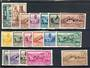 SPANISH WEST AFRICA 1949 UPU 1949 Air and 1950  Definitive set of 16 complete. All very lightly hinged. - 20288 - MNG
