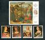 MALDIVE ISLANDS 1983 500th Birth Anniversary of  Raphael. Set of 4 and miniature sheet. - 20319 - UHM