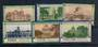 USA State Capitals. 6 Labels. - 20381 - Cinderellas